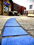 Follow the blue brick road