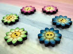 Flower buttons by Ideas-in-the-sky
