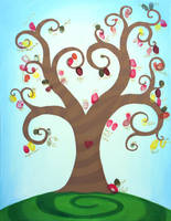 Wedding Fingerprint tree by Ideas-in-the-sky