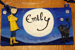 Coraline inspired name sign