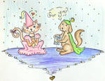 Princess Meowlina and Prince Woofsalot