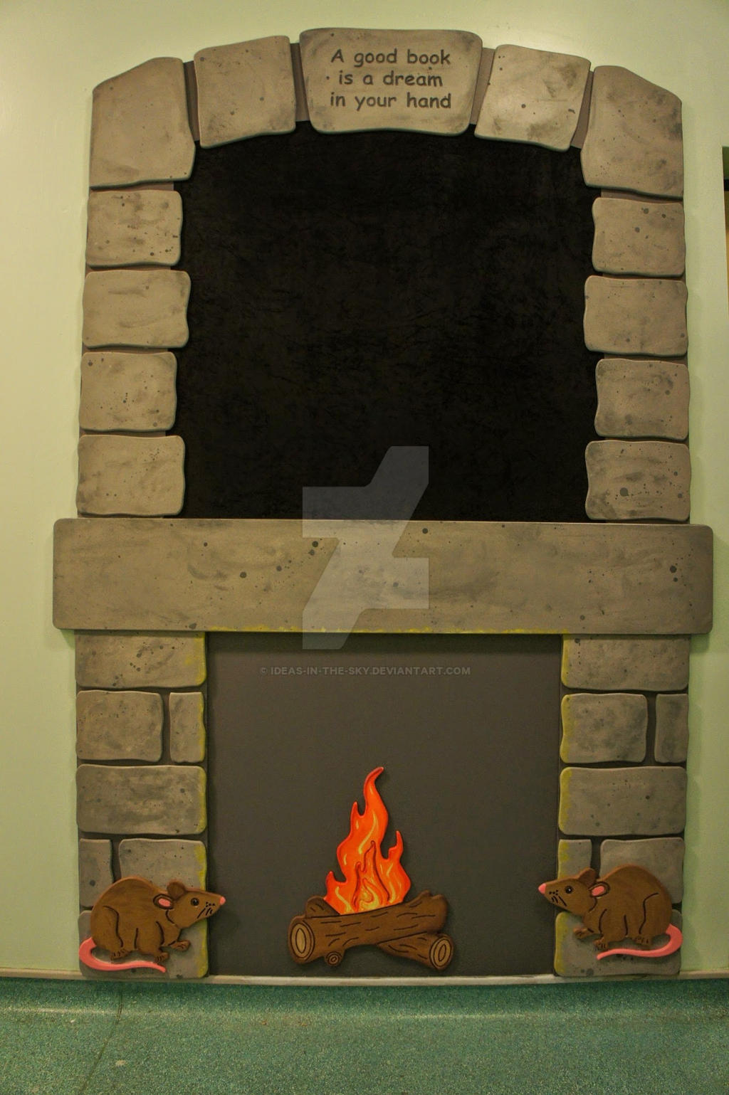 Roald Dahl School Installation - Fire Place by Ideas-in-the-sky