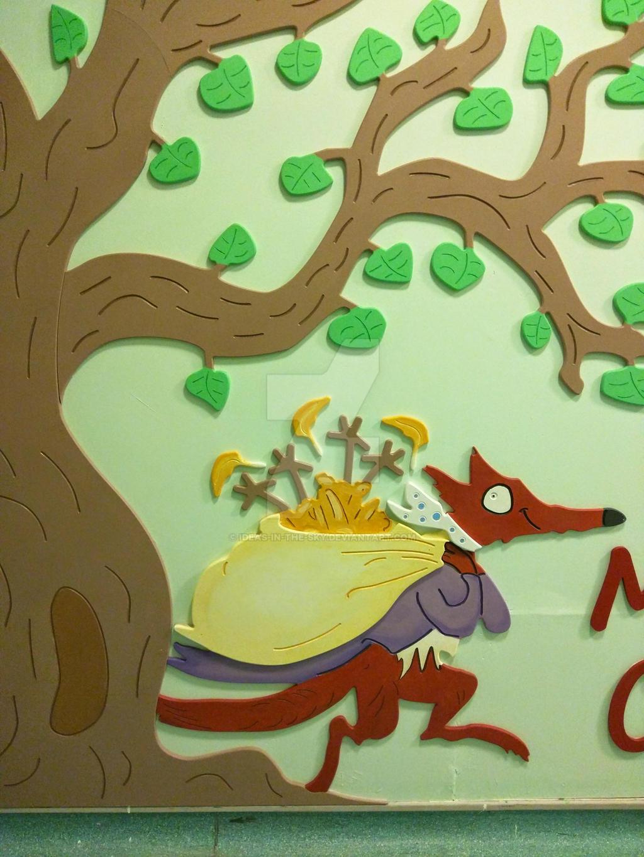 Roald Dahl School Installation - Fantastic Mr Fox by Ideas-in-the-sky