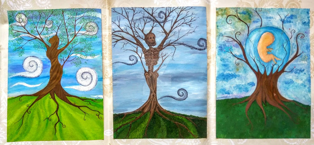 Life, Death and Rebirth Triptych by Ideas-in-the-sky