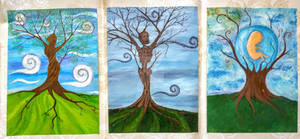 Life, Death and Rebirth Triptych