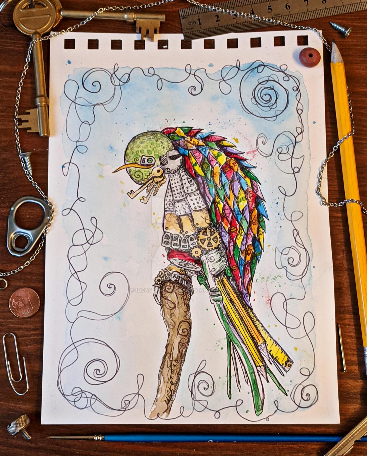 Trash Parrot