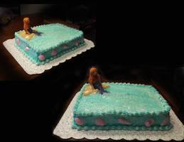 Mermaid Wedding Shower Cake