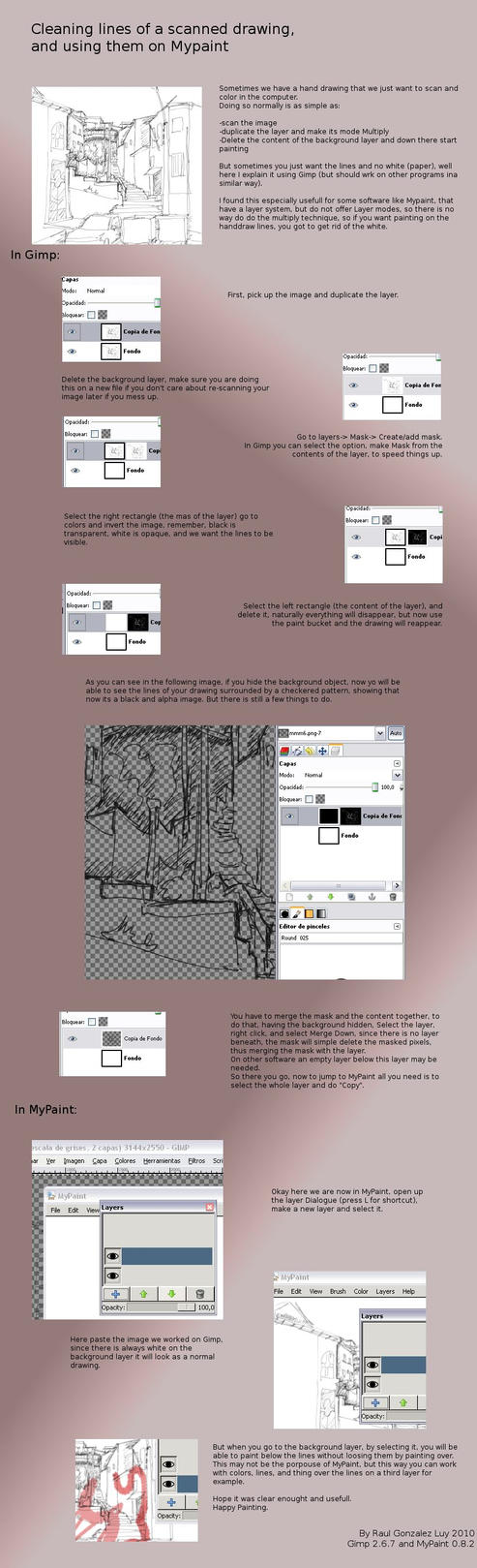 Drawing Lines With Gimp : Cleaning lines gimp to mypaint by rologl on deviantart