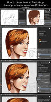 How to draw hair  in Photoshop