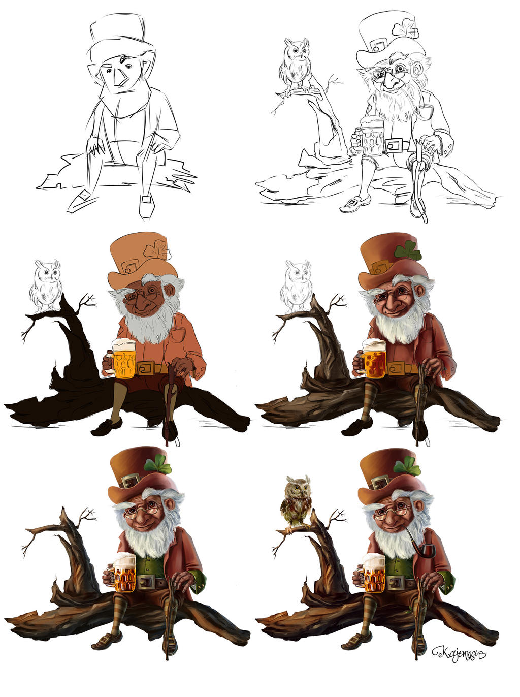 Leprechaun (step by step)