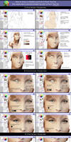 How to draw a realistic portrait in Sai / Tutorial by Kajenna
