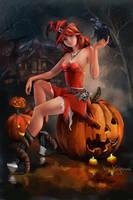 Halloween witch by Kajenna