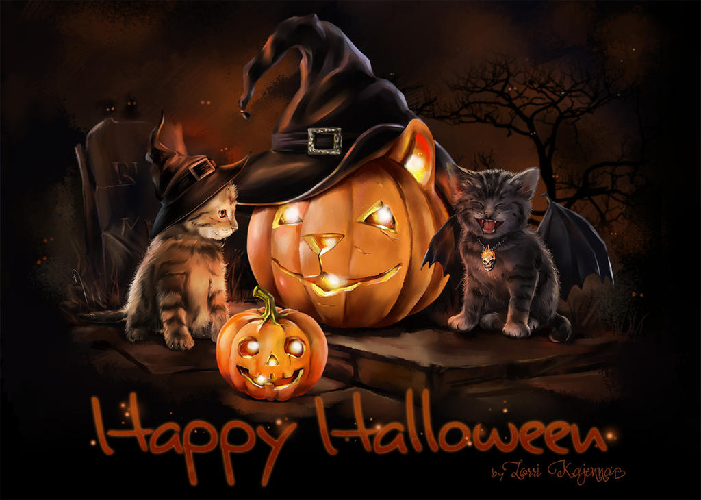 Halloween Cats by Kajenna on DeviantArt