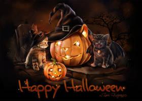 Halloween Cats by Kajenna