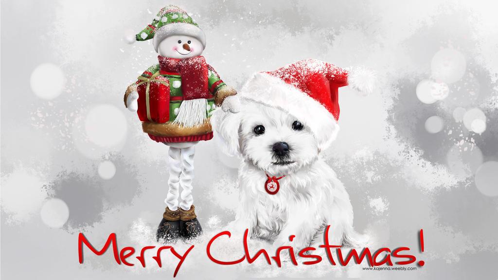 Christmas dog by Kajenna