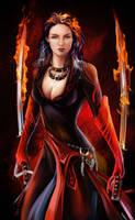 Fiery warrior by Kajenna