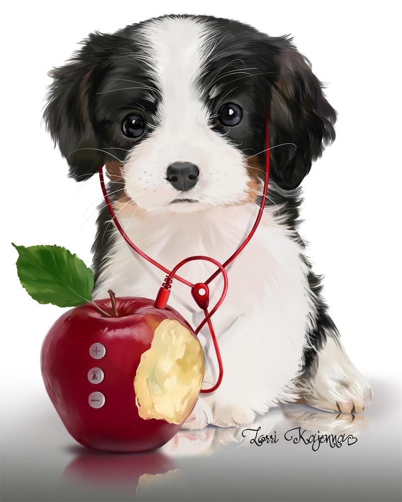 Musical puppy by Kajenna