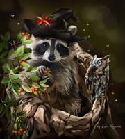 Raccoon by Kajenna