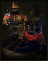 The midnight cat by Kajenna