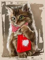Happy Cat by Kajenna