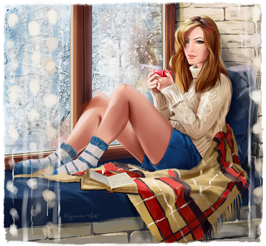 Winter window by Kajenna