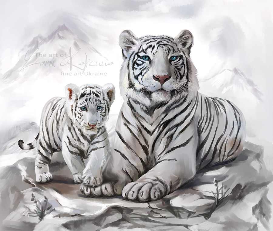 white tigerskajenna on deviantart