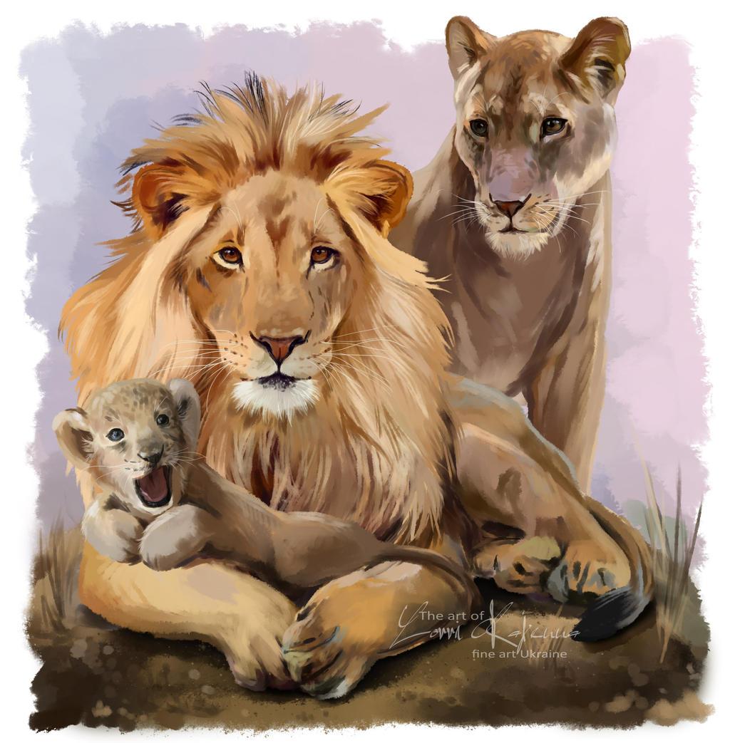 My family and I (Lion pride) by Kajenna