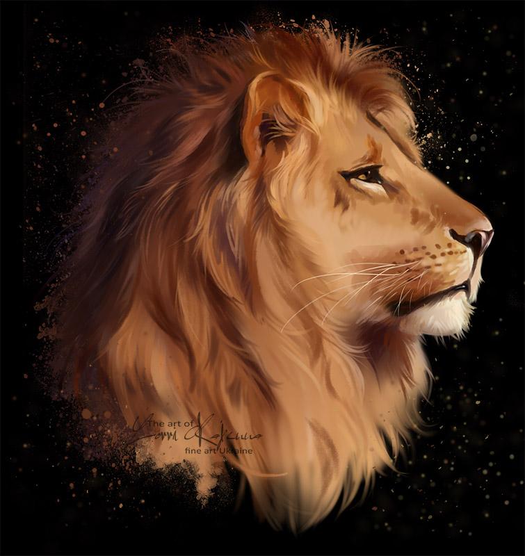 The head of a lion by Kajenna