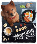 Good Morning Shiba Inu