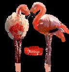 Pink Flamingo watercolor illustration