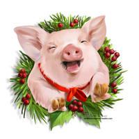 Friendly Pig by Kajenna