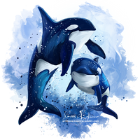 Orcas by Kajenna