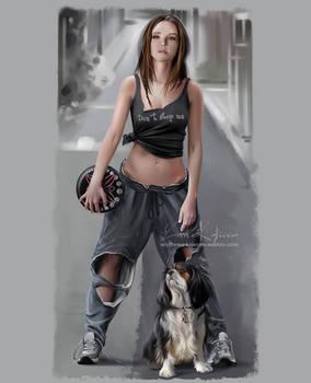 Ana, Demi and frisbee
