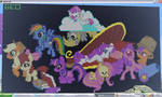 Minecraft pony pixelart
