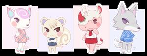 ACNH: Diana, Marshal, Merengue and Fang