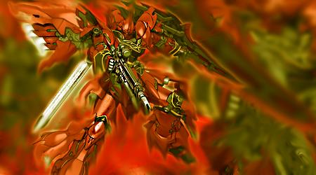 Sinanju Gundam by redxdrag