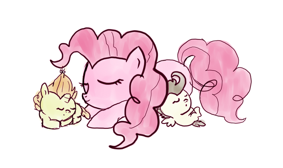 Pinkie Pie and babies by fra-92