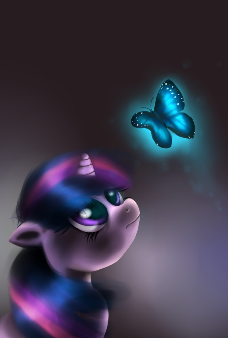 Blue Butterfly - Twilight Sparkle by fra-92