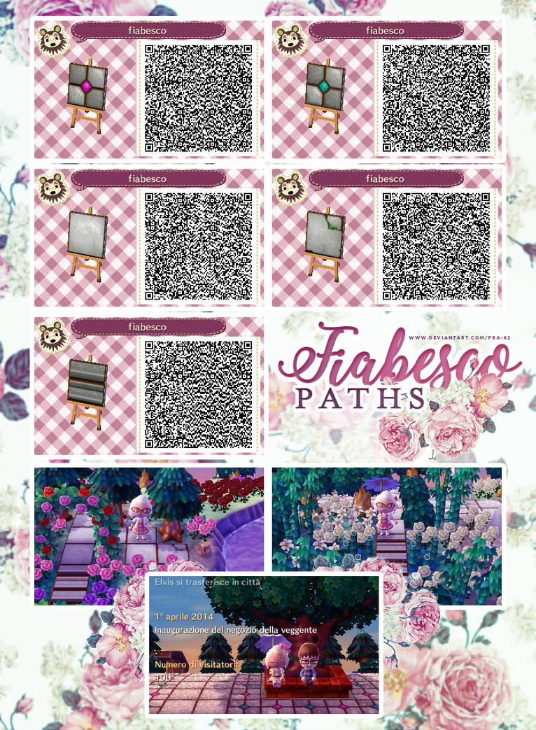 Fiabesco Paths Qr Code Animal Crossing New Leaf By Fra 92 On