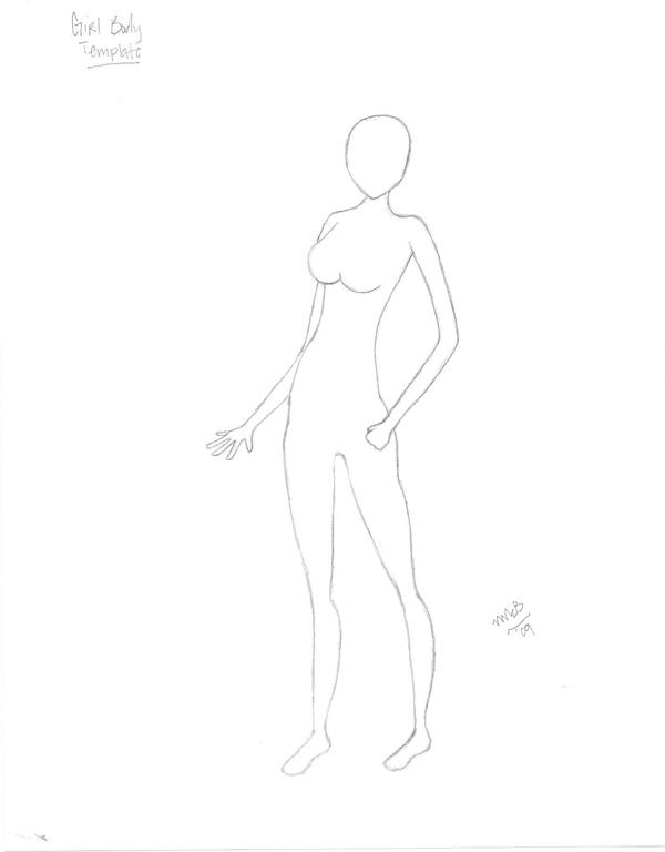 Girl outline Template by Megnificant-Stock