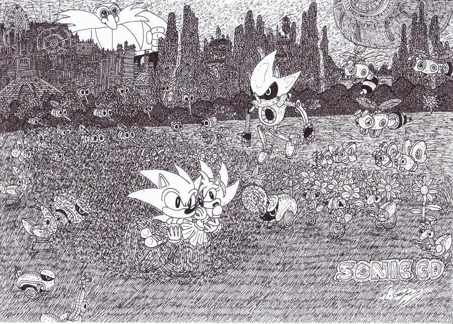 Sonic CD contest poster by TheCrimsonEmo
