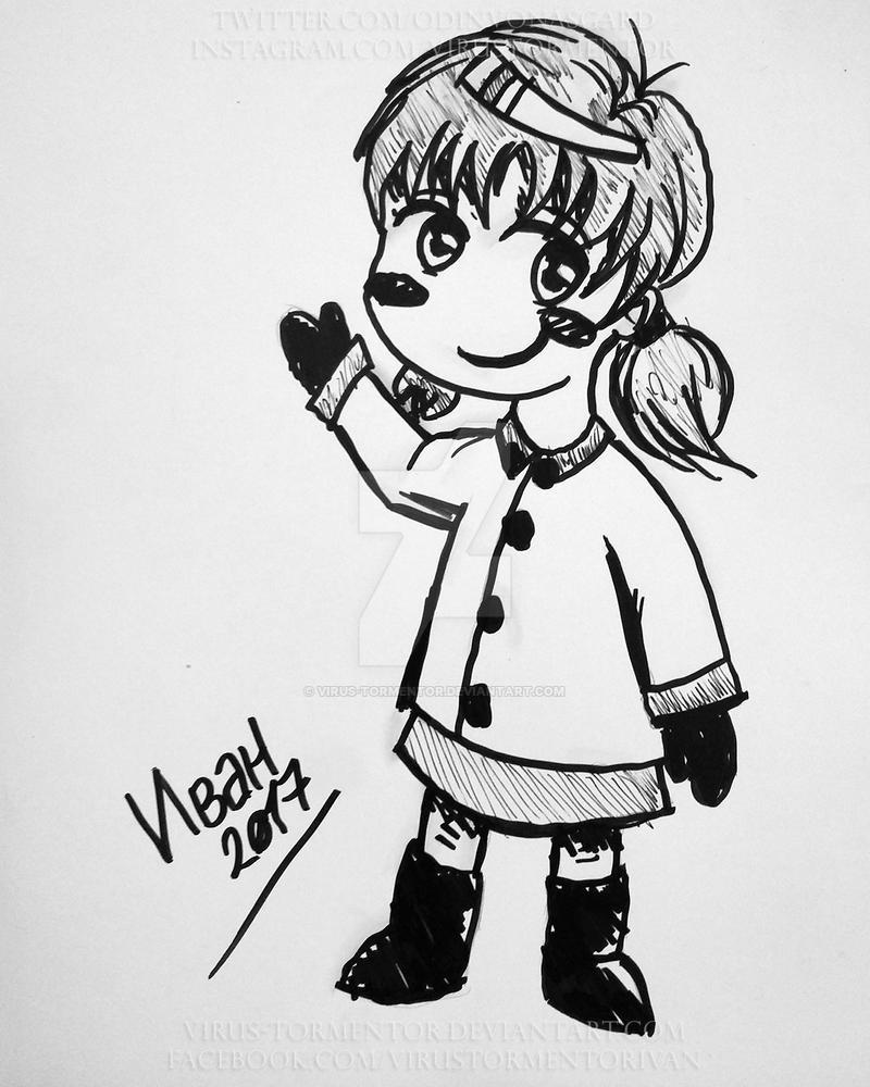 A Chibi sketch by Virus-Tormentor