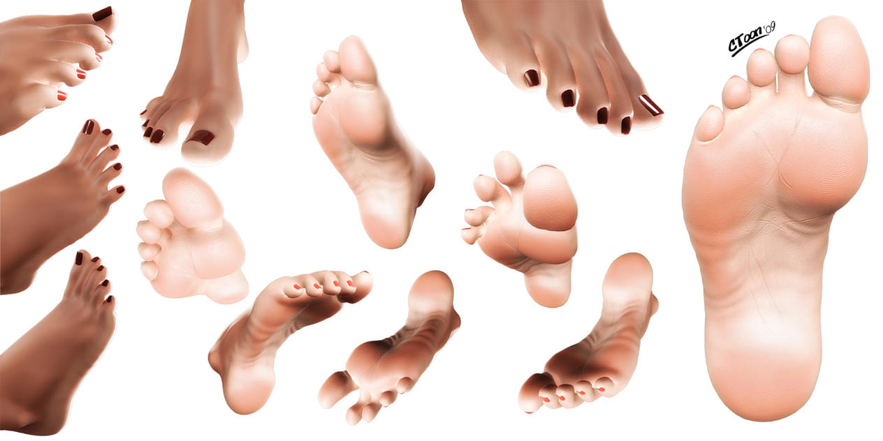 how to draw female feet