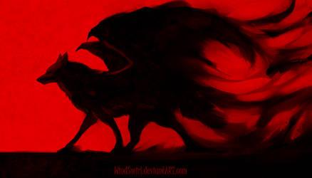 Red Walk by WindSwirl