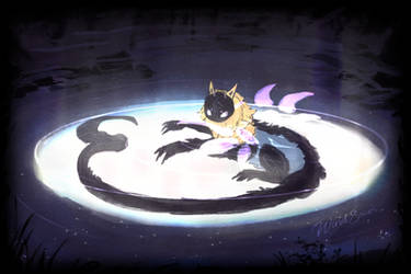 Linka and the Moon by WindSwirl