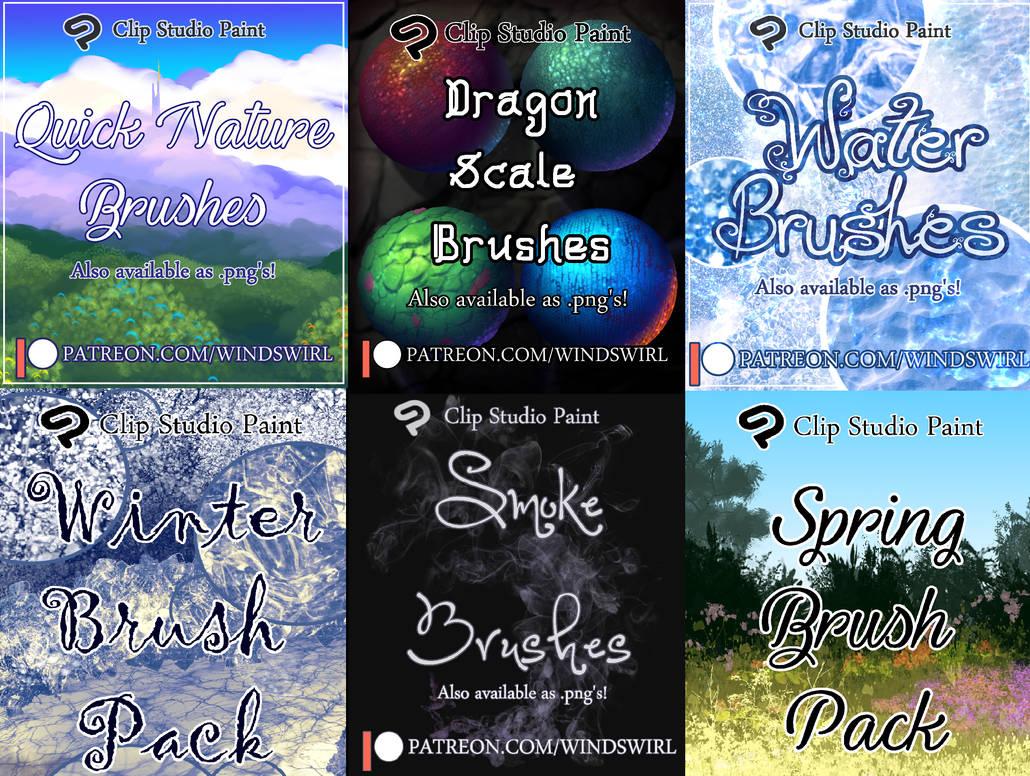 CSP Brush Packs (.sut + .png)