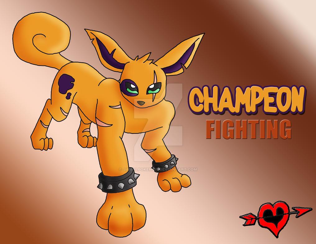 CHAMPEON - Fighting Type Eeveelution by JamalPokemon on ...