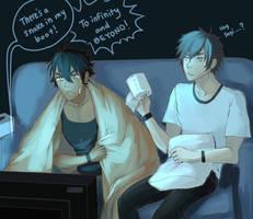 Movie night with Raye by breevey10