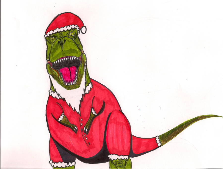 Christmas Trex by SAURUSROCK360 on DeviantArt