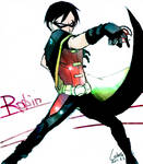 Young Justice- Robin shooting